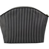 PVC Coated Canvas Striped Makeup Bags Pattern