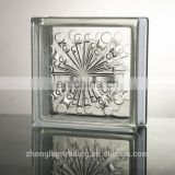 Wholesale outdoor beauty decorative square crystal transparent clear colored hollow glass block