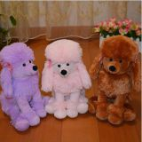 Plush toy poodle dog With logo version can be customized