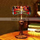 Tiffany decoration table lamp wholesale led light night reading led table lamp stained glass bank lamp