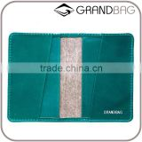 Blank Vegetable Tanned Leather and suede slim credit card holder billfold card sleeve card wallet wholesale
