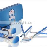 Comfortable doraemon cosmetic makeup brush with box