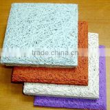Natural color cement fireproof wood wool acoustic panel