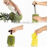 Amazon hot sell factory supply Stainless Steel Pineapple Slicer Corer Peels and Slices apple peeler corer slicer