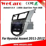 Wecaro WC-HU7202 Android 4.4.4 car stereo quad core for hyundai accent navigation system audio system GPS 2011-2014