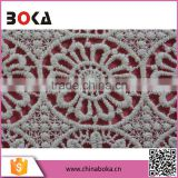 Wholesale products china new design fashionable cotton lace fabric embroidered lace water soluble voile lace