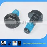 flat head hex countersunk full thread screw with nylok