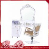 Awesome design hair salon equipment make up mirror Luxury old type classical salon wall mirror with table
