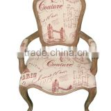 2015 simple comfortable antique factory solid wood cafe chairs