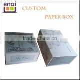 Corrugated paper box, kraft handmade paper box, rectrangle folding paper box with customizing logo