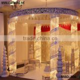 Decorative crystal lighted mandap with led light,crystal wedding backdrop(MBD-006)                                                                         Quality Choice