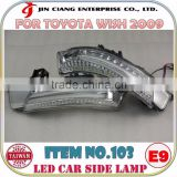 2016 Innovative Product FOR TOYOTA WISH ZGE20 LED CAR SIDE LAMP