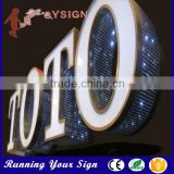Galvanized sheet punching holes exposed led light lettering