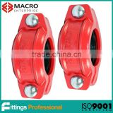quality ductile iron China rigid grooved couplings
