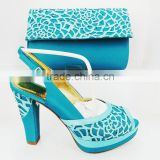 china wholesale italian shoes and bag set african leather sandals matching handbag