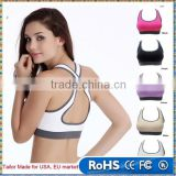 Women Lady Racerback Crop Top Stretch Vest Outdoor Sports Nylon Bra Gym Shapewear Run Underwear Bras