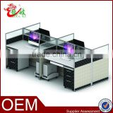 office used furniture modular partition cubicle 4 person work bench office workstation M69-01-24                                                                         Quality Choice
