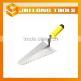 carbon steel brick laying trowel handle with double color plastic handle