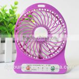 OEM custom logo motor hotsale plastic air battery power Strong wind centrifugal Portable Rechargeable USB Desk Pocket mini fan