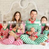 Best quality Wholesale children plain cotton pattern Christmas 2015 kids red white stripes pajamas