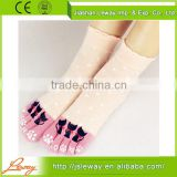 Custom knitted toe separators socks,cotton terry toe socks,cotton women toe separators socks