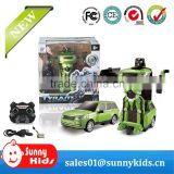 China RC Robot Toy Transform Robot Car for 2016 Chirstmas Gift