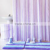 Bathroom Assortments coordinate Bath set, polyester shower curtain/bathroom door mat set/ceramic bathroom set