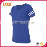 Latest apparel womens fine jersey football t-Shirt, v-neck sublimation custom printing dri fit t shirt                                                                                                         Supplier's Choice