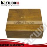 Solid wood watch display case,glossy varnish wooden watch packaging box,wooden watch display case
