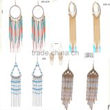 Hot new products for 2015 alibaba express wholesale dubai jewelry earing fashion earrings tassel chain pendant