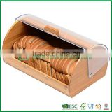 bamboo bread storage box with plastic lids, popular bamboo kitchenware