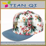 beautiful cotton hip hop hats sale with metal plate and back leather strap
