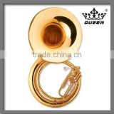 Brass instrument Gold lacquer sousaphone