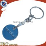 Custom two side metal trolley coin keyring/coin for supermarket trolley/custom trolley coin keyring