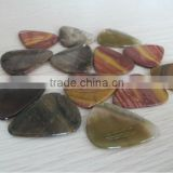 natural semi precious stone guitar picks-Natural mookiate and banded agate stone guitar picks
