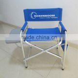 Aluminium folding director chair with cup plate and paper bag