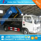 Dongfeng 4x2 5m3 hook lift container garbage truck for sale