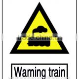Hot sale high quality Reflective aluminium TRAFFIC signs safety signs,WARNING signs customized,CAUTION TRAIN SIGNS