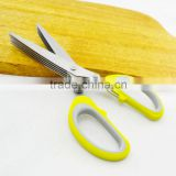 Plastic Handle 5 Blades Herb Name Brand Scissors