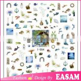 Summer nail art,fashion fish shell design 3D nail art stickers for hot summer 1-054                                                                         Quality Choice
