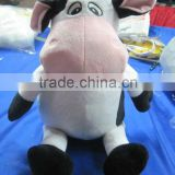 HI EN71 Singing Stuffed Cow Plush Toy