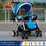 EVA adjustable handle stroller bike for baby and mother / stroller baby pram tricycle / four Removable wheel stroller with cover