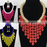 Alibaba China handmade necklace and earrings beads/coral beads necklace jewelry set for bride/Beads necklace for Nigeria wedding                                                                         Quality Choice