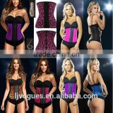 2015 Wholesale 3Hooks Steel Boned Plus Size intex waist corset training, latex waist cincher corset