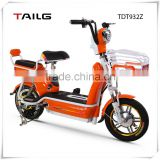 tailg/tailing fixed gear bike chinese bisiklet with basket e-time smart steel frame moped bike with pedals for sales TDT932Z