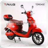 350w small electric motorcycle with pedal Dongguan Tailg moped luxury scooter vespa