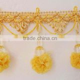 Curtain bead tassel Ball Fringe , lace for curtain decor