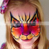 Custom cartoon water transfer full face tattoo halloween makeup face mask stickers makeup face paint factory
