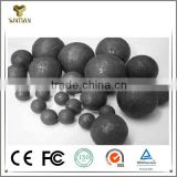 Low chrome forged grinding rubber coated steel ball for ball mill