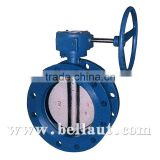 Manual-operated Flanged Concentric Butterfly Valve with handwheel,handwheel operated butterfly valve